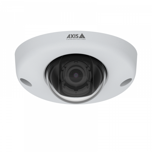 AXIS P3925-R is a robust, vandal-resistant IP camera with Lightfinder. Viewed from its front.