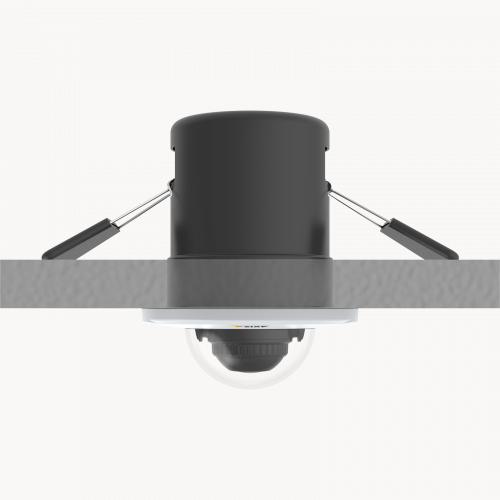 IP Camera AXIS M3015 has recessed-mount 1080p fixed mini dome. The camera is viewed from ceiling.
