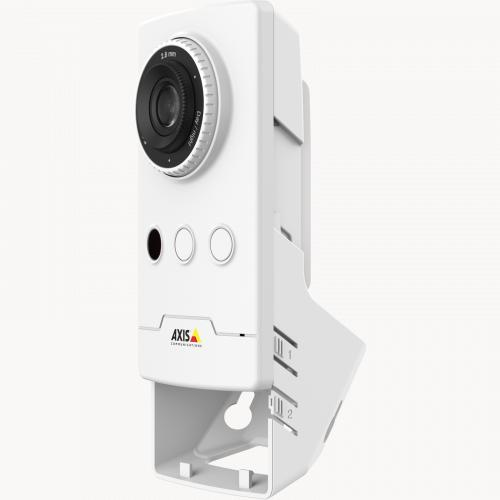 AXIS M1045-LW IP camera viewed from its left angle.
