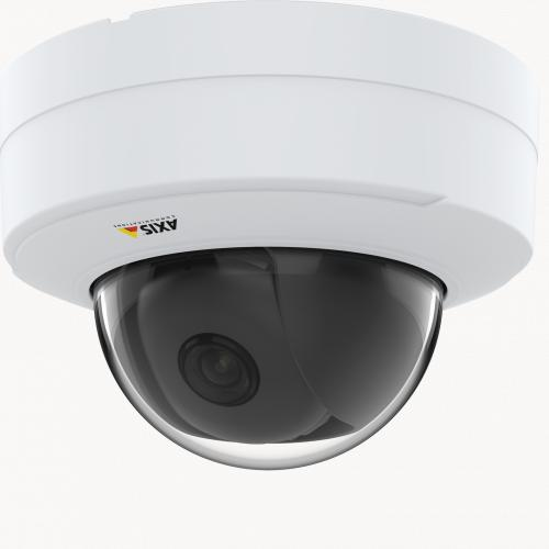IP Camera AXIS p3245 v has HDTV 1080p video quality. The camera is viewed from it´s left