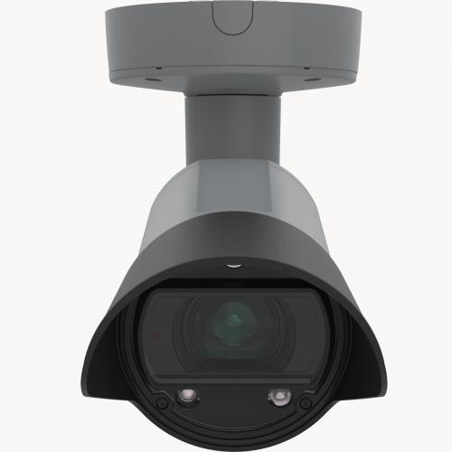AXIS Q1700-LE License Plate Camera, ceiling mounted and viewed from its front.