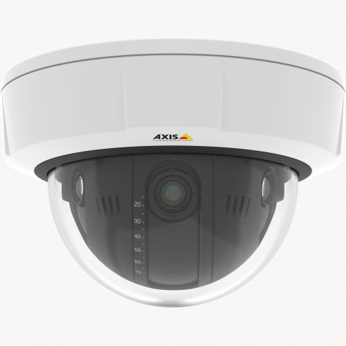 Q3708-PVE is an IP camera that offers 180° overview in challenging light conditions.