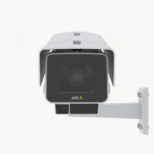 AXIS P1377-LE IP Camera has OptimizedIR and Forensic WDR. The product is viewed from its front.