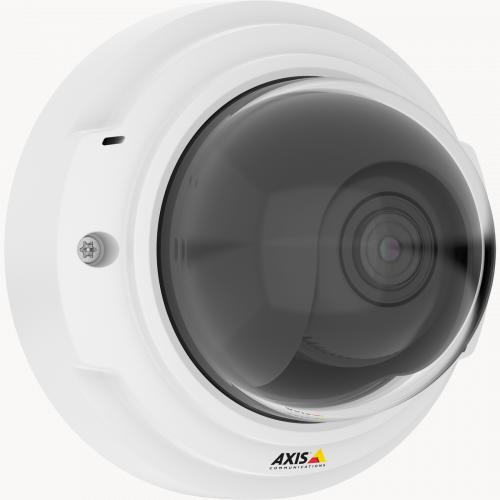 Axis IP Camera P3374-V has Remote zoom and focus and Two-way audio and I/O ports