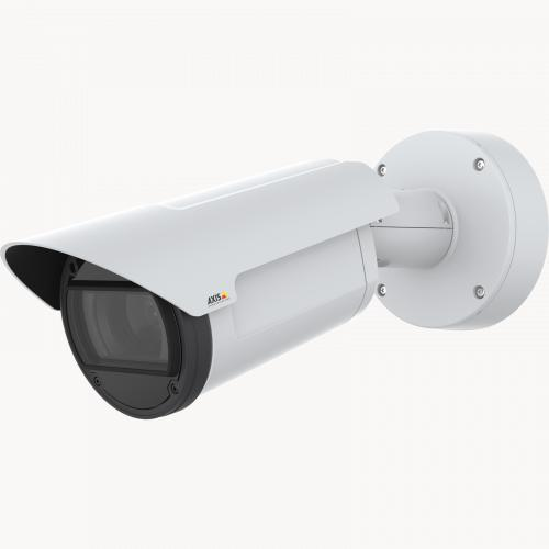 AXIS Q1786-LE IP Camera has OptimizedIR. The product is viewed from its left angle.