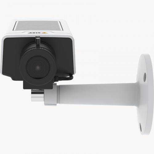 AXIS M1134 IP Camera has a compact and flexible design. The product is viewed from its front. .