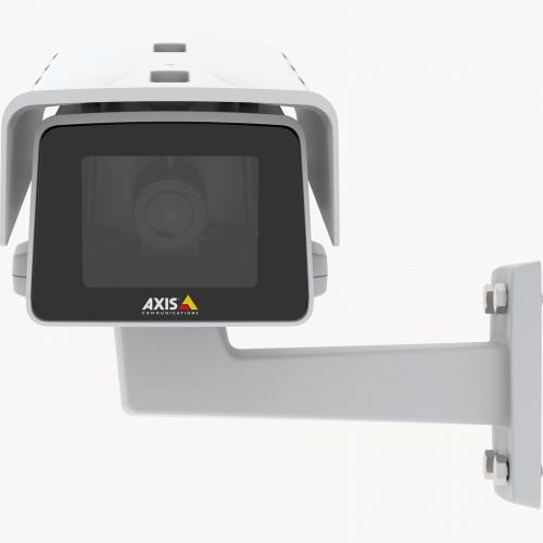 AXIS M1135-E IP Camera has a compact and flexible design. The camera is viewed from its front.