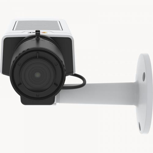AXIS M1137 Network Camera has a flexible design. The camera is viewed from its front.