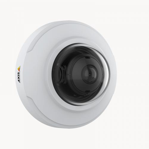 AXIS M3066-V IP Camera mounted on wall from right angle