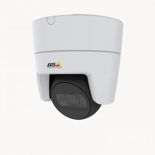 AXIS M3115-LVE IP Camera mounted in ceiling from left angle