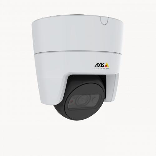 AXIS M3115-LVE IP Camera mounted in ceiling from right angle