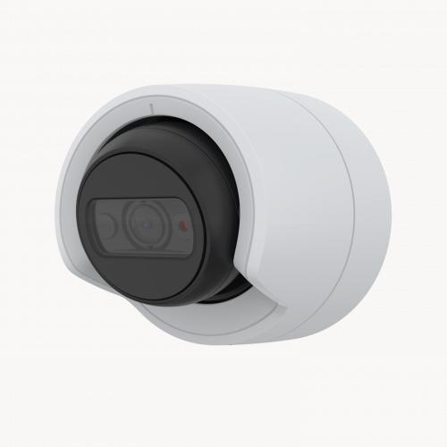 AXIS M3115-LVE IP Camera mounted on wall from left angle