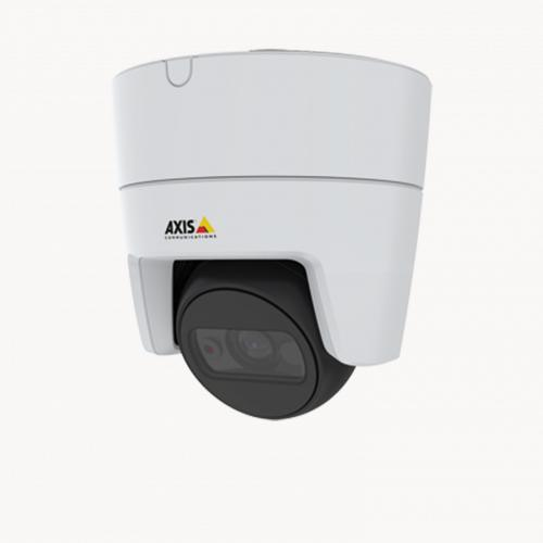 AXIS M3116 LVE mounted in ceiling from left angle
