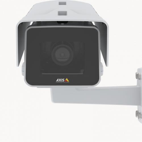 AXIS P1375-E IP Camera mounted on wall from front