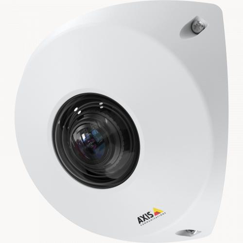 AXIS P9106-V in white color. The product is viewed from its left angle.