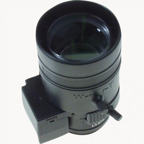Fujinon Varifocal Megapixel Lens 15-50 mm, viewed from its left angle