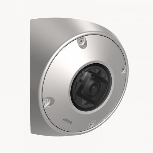 AXIS Q9216-SLV in stainless steel, from the right angle