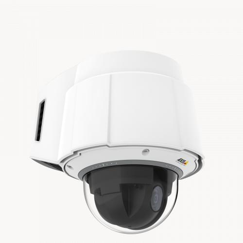 AXIS Q6055-C PTZ camera mounted on wall from right