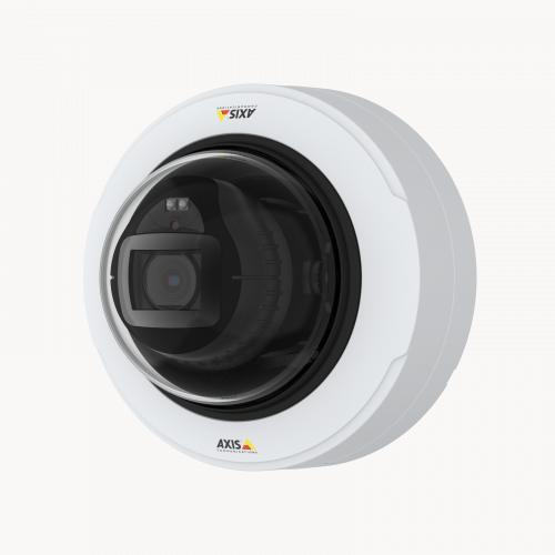 AXIS P3247-LV Network Camera viewed from left angle.