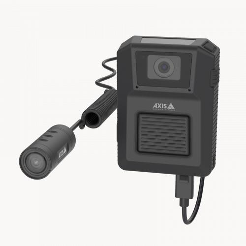 AXIS TW1200 Body Worn Bullet Sensor with camera from the left angle