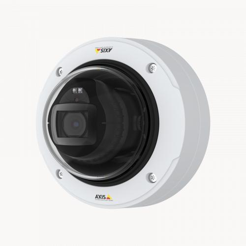 AXIS P3247-LVE Network Camera, viewed from its left angle