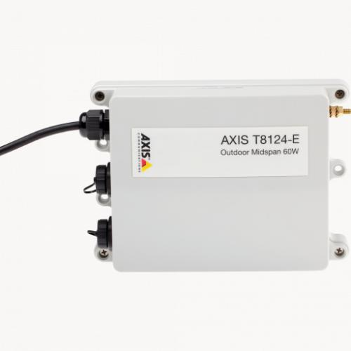 AXIS T8124-E Outdoor Midspan 60 W 1-port