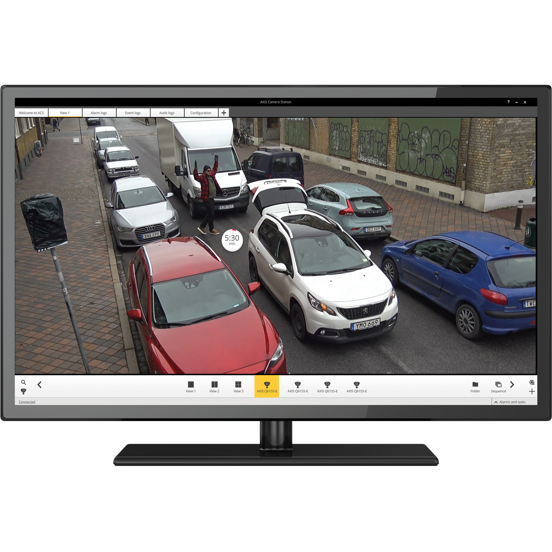 Axis Communications parking violation detection