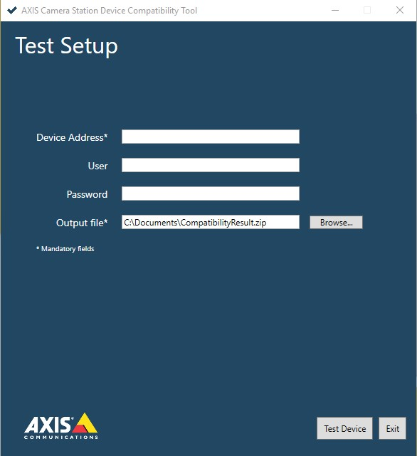 AXIS CAMERA STATION DEVICE COMPATIBILITY TOOL