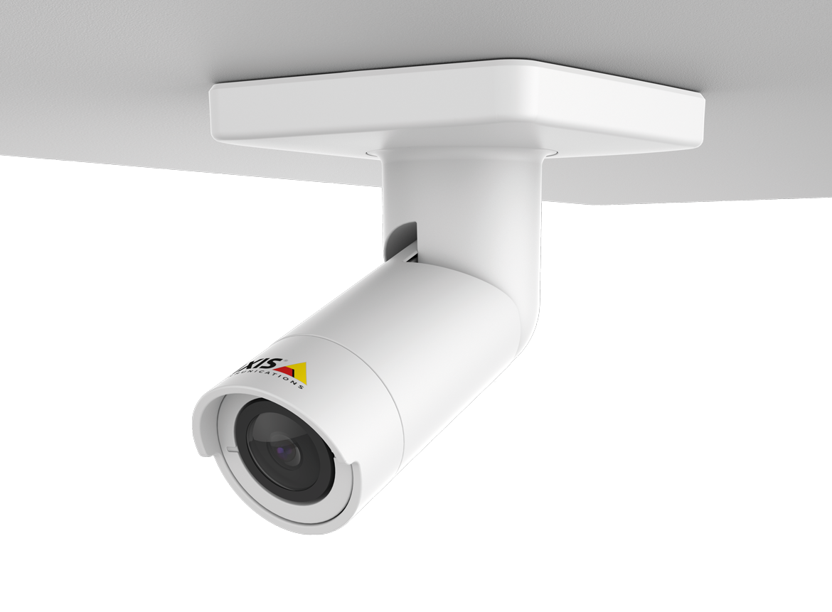AXIS F1004 Bullet Sensor Unit mounted on ceiling