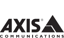 Axis black and white logotype, on a white background