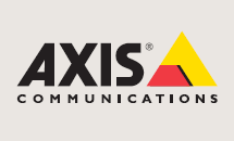 Axis logotype with color, on a sufficiently light background.