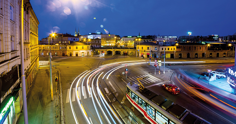 brno evening traffic