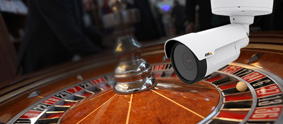 HD and megapixel camera infront of a casino roulette
