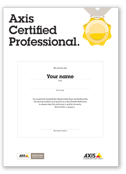 Certification diploma