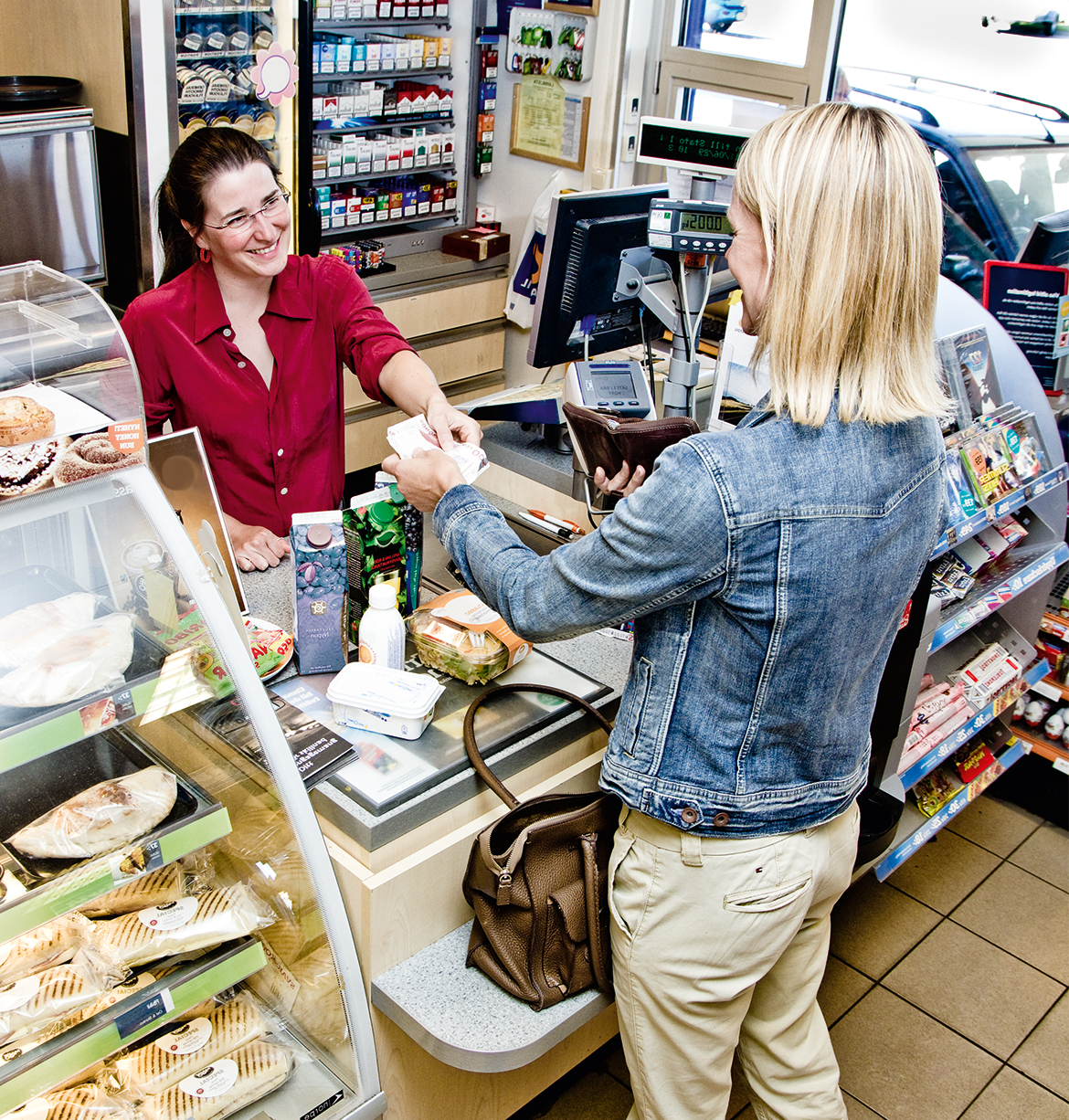 Transaction in convenience store