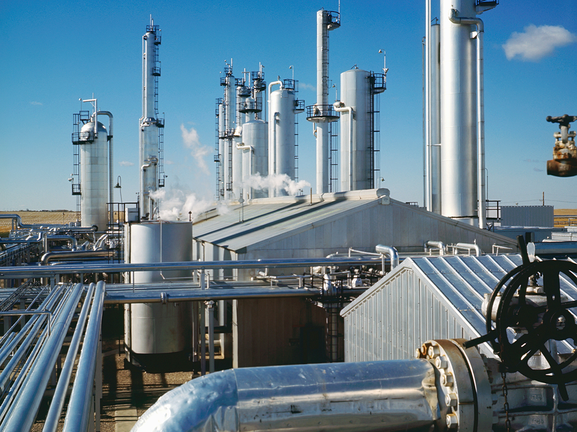 Gas plant refinery