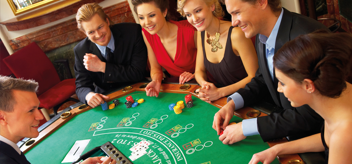 Casinos - group playing poker