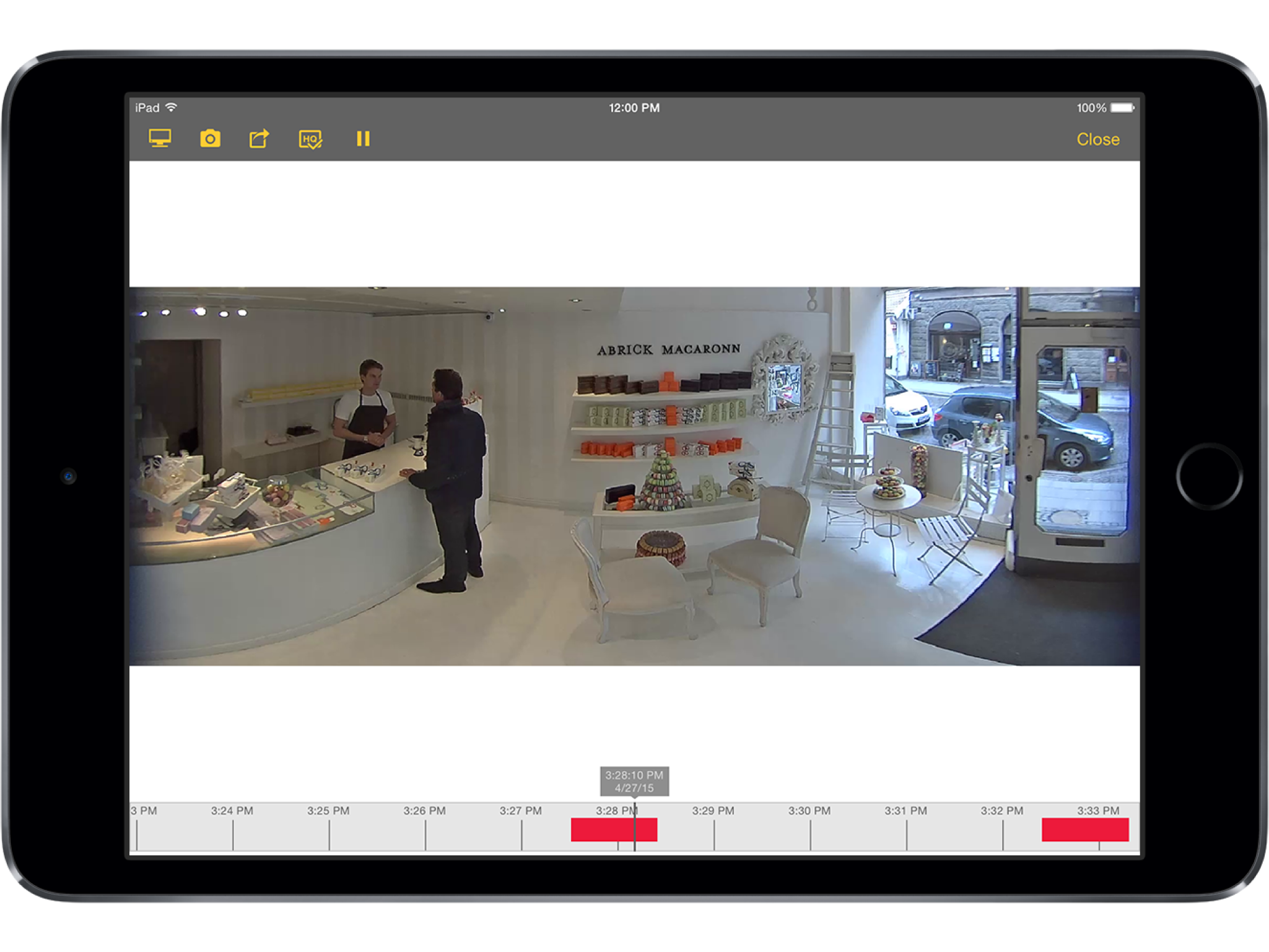 AXIS Camera Companion iPad Air 2 playback