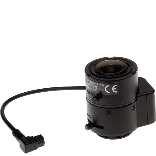 Varifocal 3-8 mm DC-Iris lens, CS mount