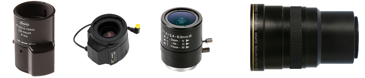Lenses for network video cameras