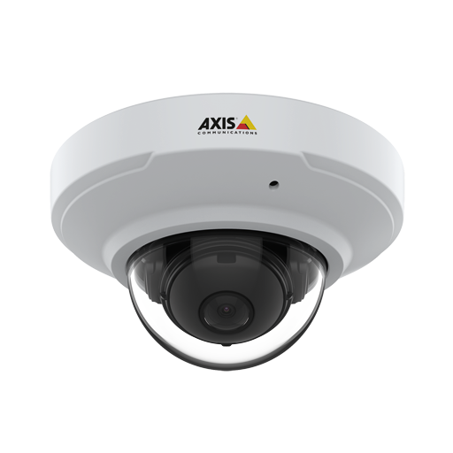 AXIS M3075V IP Camera mounted in ceiling from front