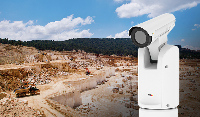 Mining quarry and an AXIS Q8642-E network camera
