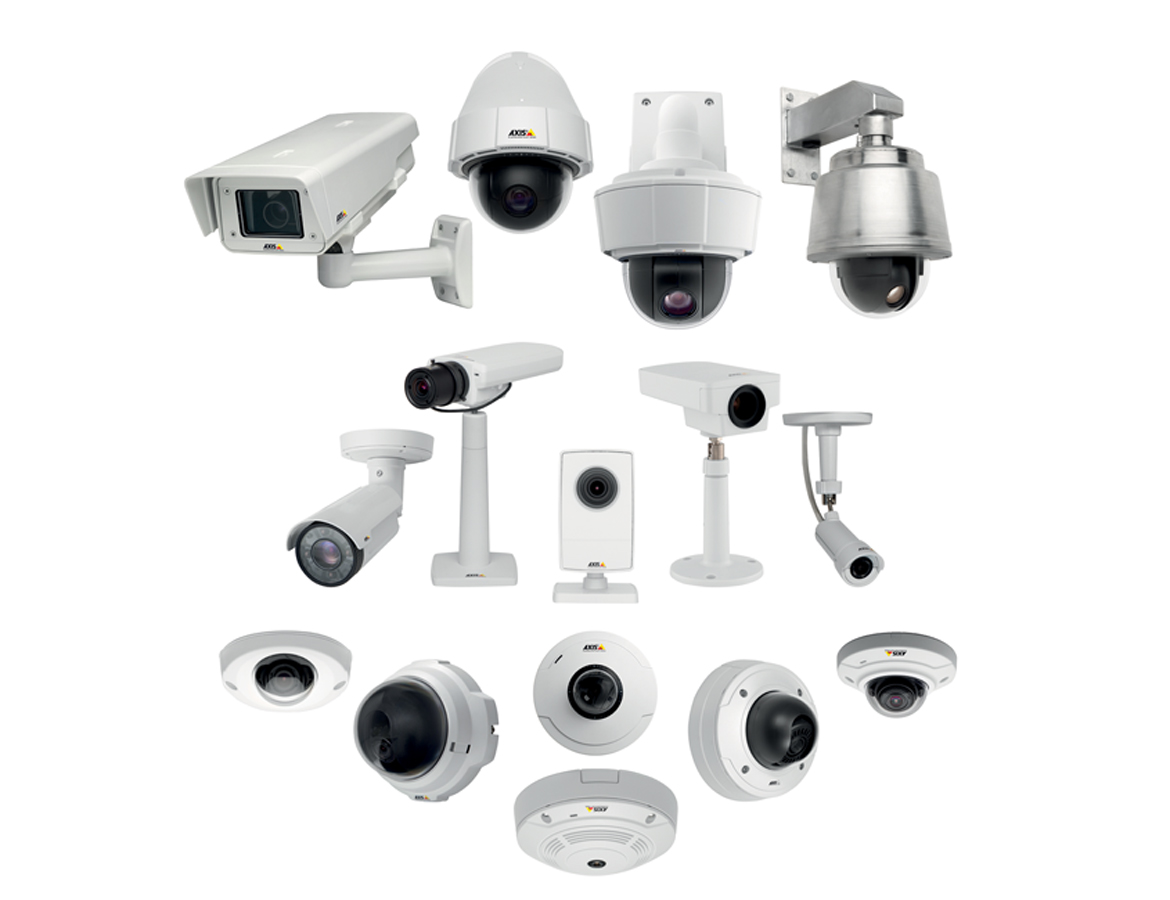 Network camera family in shape of an arrow