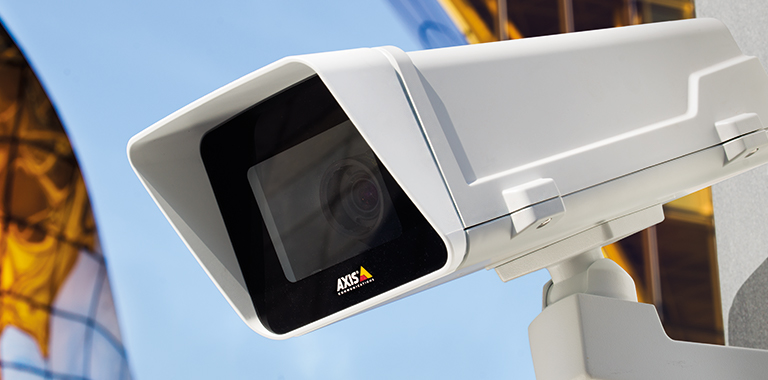 Closeup of outdoor camera