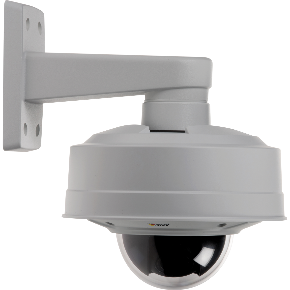 AXIS T91E61 Wall Mount together with an Axis fixed dome newtork camera.
