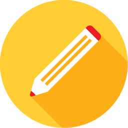 Yellow icon - pencil