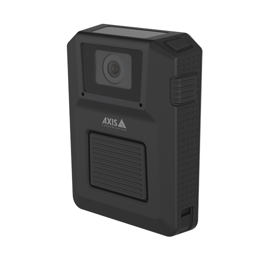 AXIS W100 Body worn camera, from the left angle