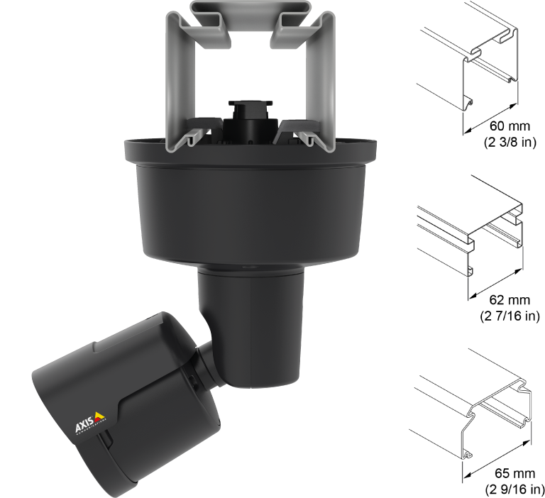 AXIS T91A33 Lighting Track Mount | Axis Communications