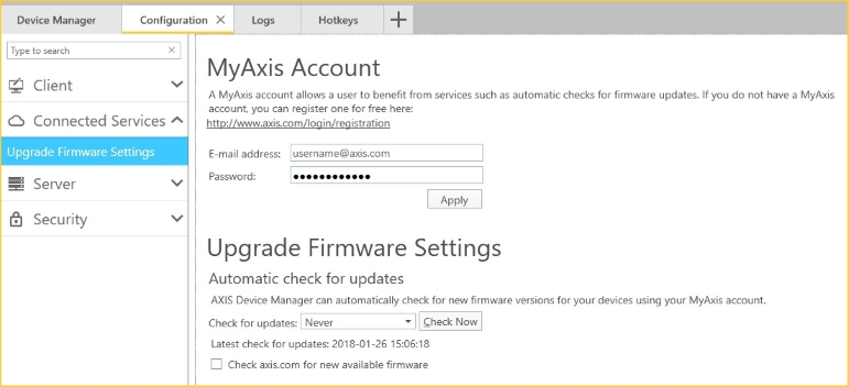 FAQ: How can I manually add firmware files to AXIS Device Manager