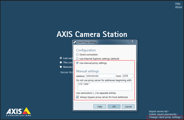 FAQ: How to configure AXIS Camera Station in order to use Secure